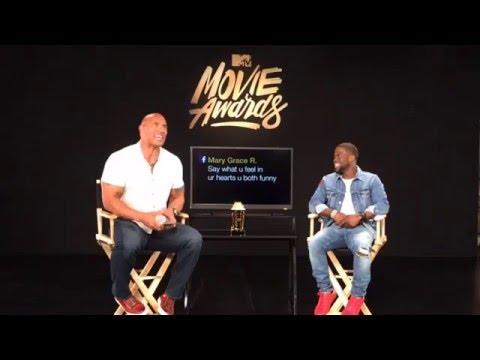 UNCENSORED Live Promo Shoot With Dwayne Johnson & Kevin Hart   2016 MTV Movie Awards