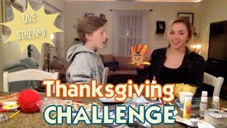 It's Our First Live Stream! The Thanksgiving Hand Turkey Challenge