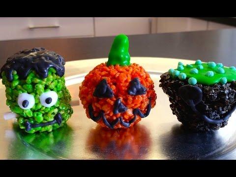 rice krispie halloween treats youtube
