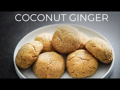 GF COCONUT GINGER COOKIES RECIPE | EASY GLUTEN FREE CHRISTMAS TREATS!