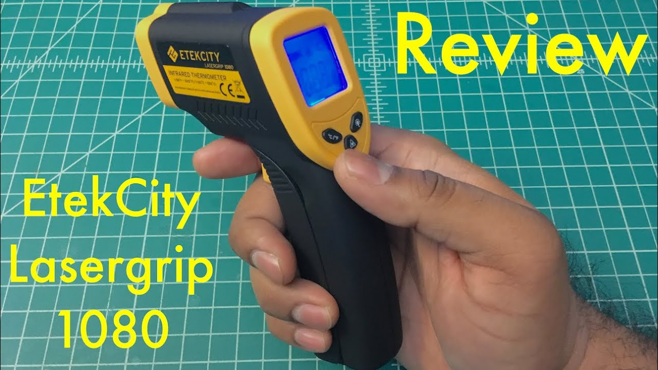 Etekcity Lasergrip 1080 Digital Infrared Thermometer Review - YouTube