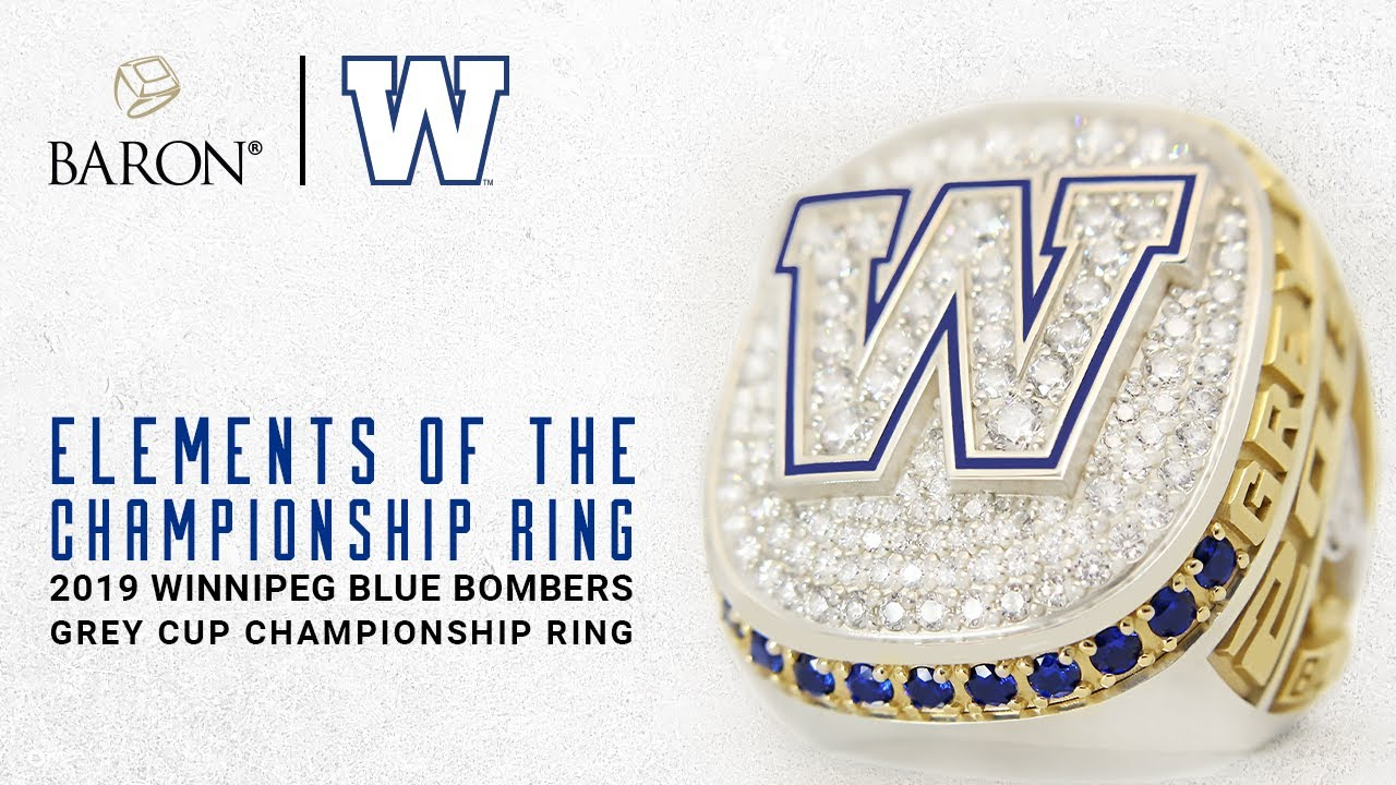 Winnipeg Blue Bombers 2019 Grey Cup Champions Elements of the Ring