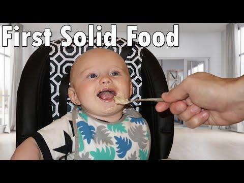 Owen's First Food!