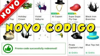 NEW FREE ITEM CODE IN ROBLOX
