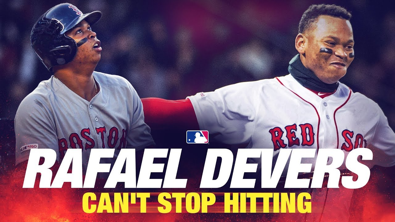 brand new 562ec 0d48a Red Sox Rafael Devers Hit Reel! The kid can't stop hitting | MLB Highlights