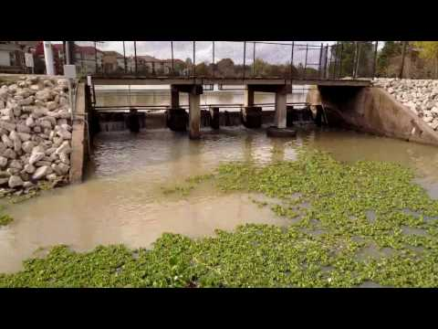 Oyster Creek Dam & Fishing Pier. Sugar Land, Texas December 2016