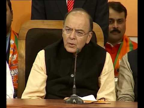 UP Polls: Arun Jaitley addresses media at BJP headquarters in Lucknow