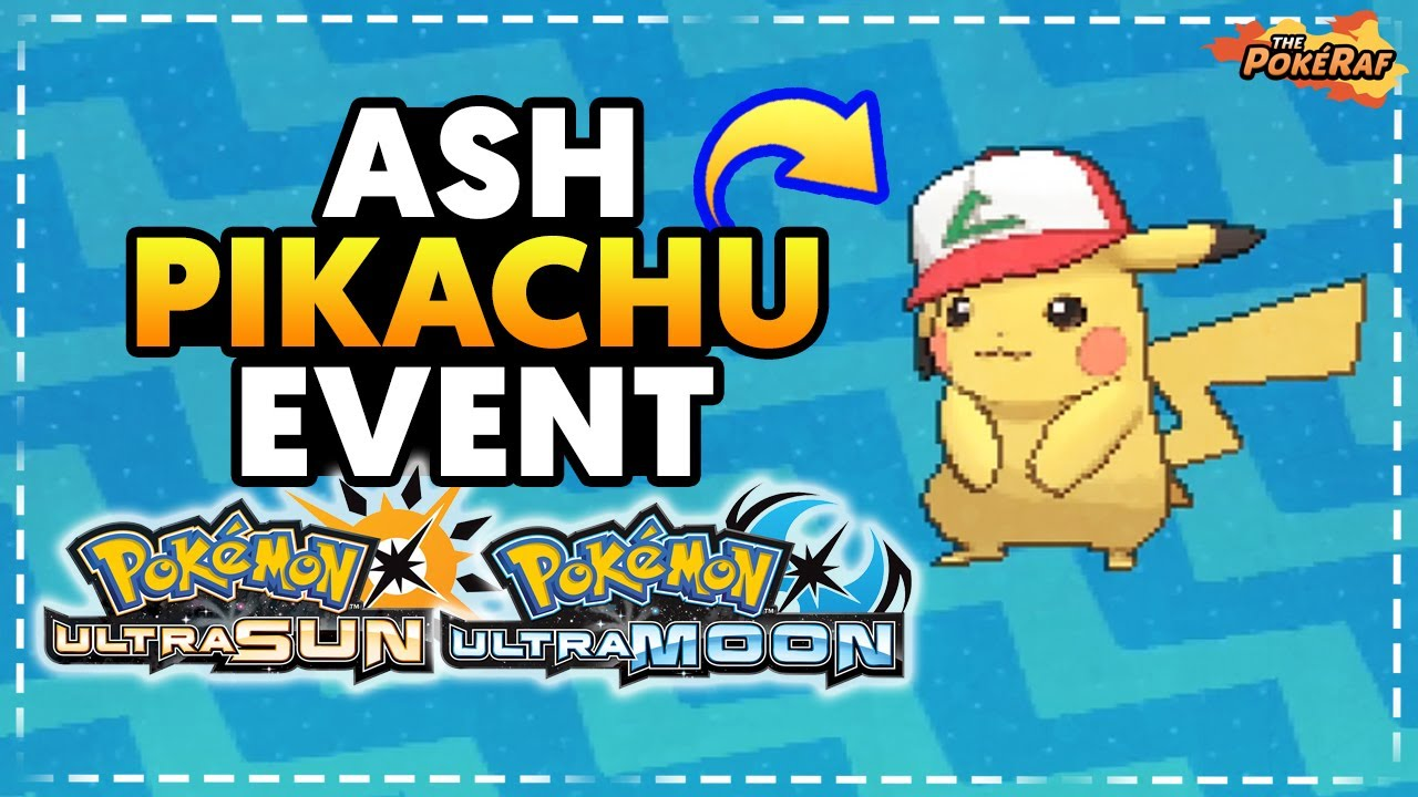 I Choose You Cap Pikachu Event For Pokémon Ultra Sun And Ultra Moon