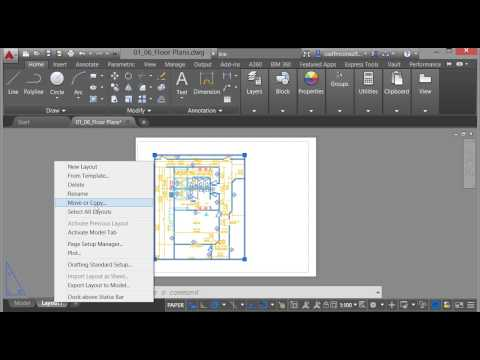 Model & Layouts In Autocad 2016