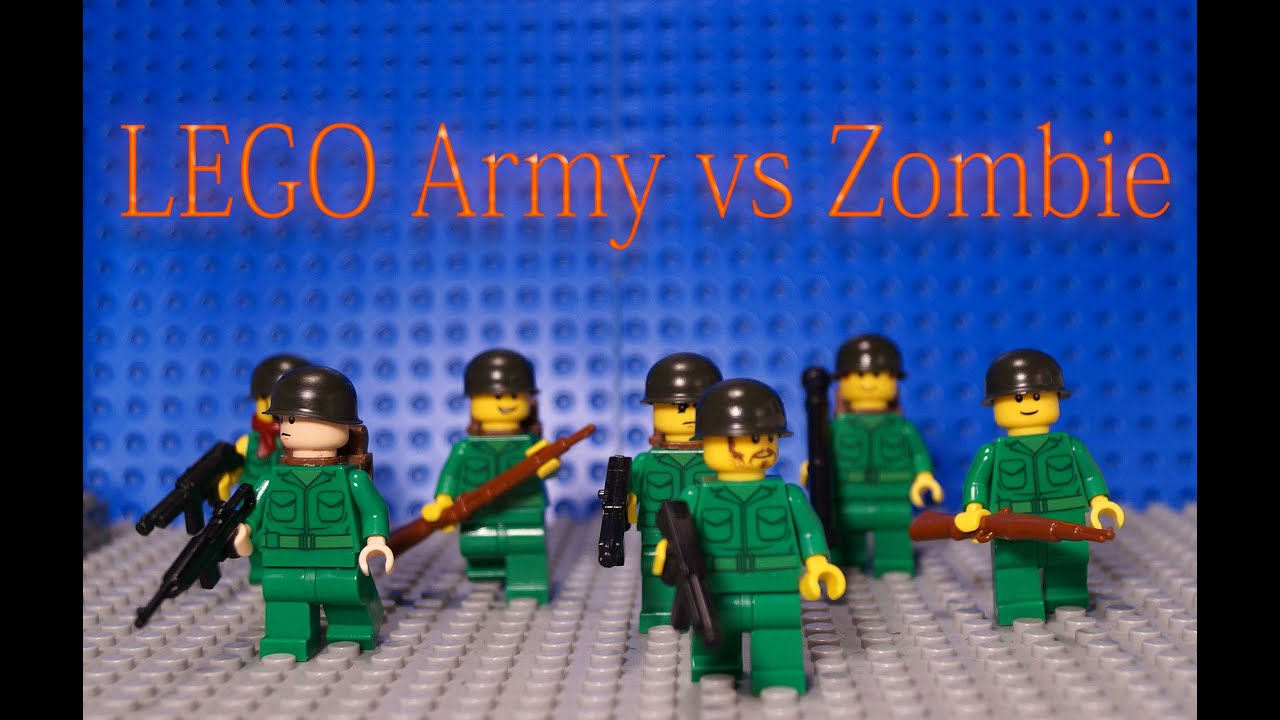 Картинки лего солдаты против зомби