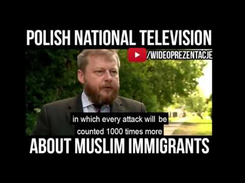 ⚠️ █▬█ █ ▀█▀  Immigration Crisis in Europe in  Polish National Television 1 ⚠️