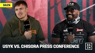 Usyk vs. Chisora Final Press Conference & Face-Off