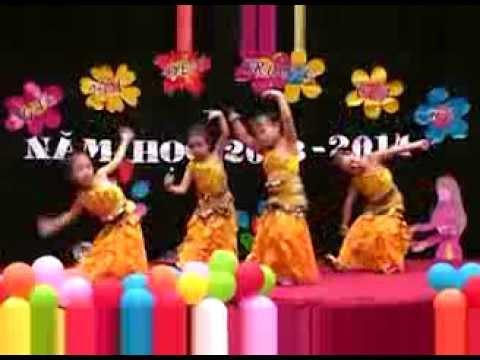 Các bé múa Ấn Độ rất đáng yêu - Trường mầm non ĐôRêMon