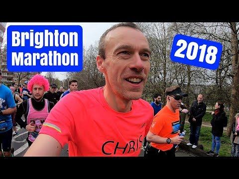 Brighton Marathon 2018   Race VLOG   Here We Are Running