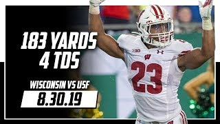 Jonathan Taylor Full Highlights Wisconsin vs USF | 183 Total Yards, 4 TDs | 8.30.19