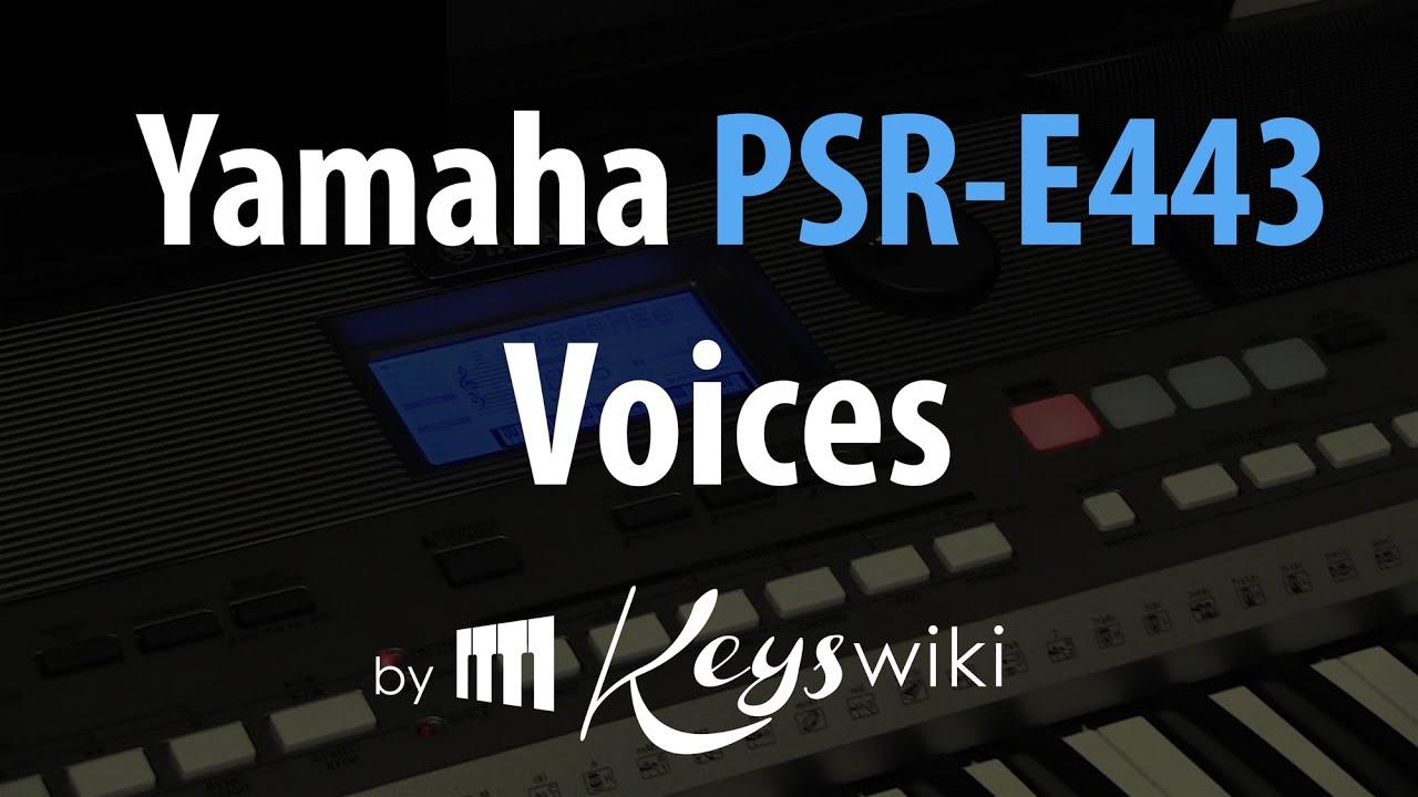 Yamaha PSR E443  Voices(1/5)