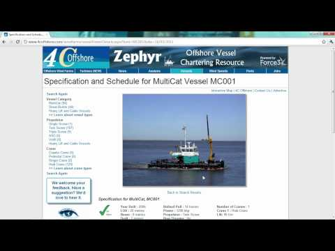 Zephyr - Offshore Vessel Chartering Resource - vessel owners