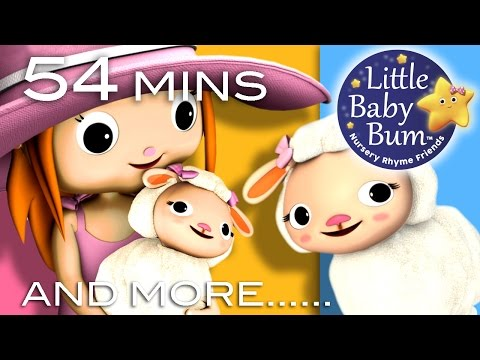 Mary Had A Little Lamb | Plus Lots More Nursery Rhymes | 54 Minutes Compilation from LittleBabyBum!