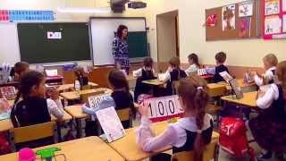 Фрагмент урока математики в 1 классе.