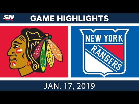NHL Highlights | Blackhawks vs. Rangers - Jan. 17, 2019