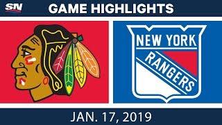 Nhl Highlights  Blackhawks Vs. Rangers - Jan. 17, 2019