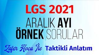 2021 LGS Aralık Ayı MEB Örnek Sorular MATEMATİK  Taktikli Anlatım