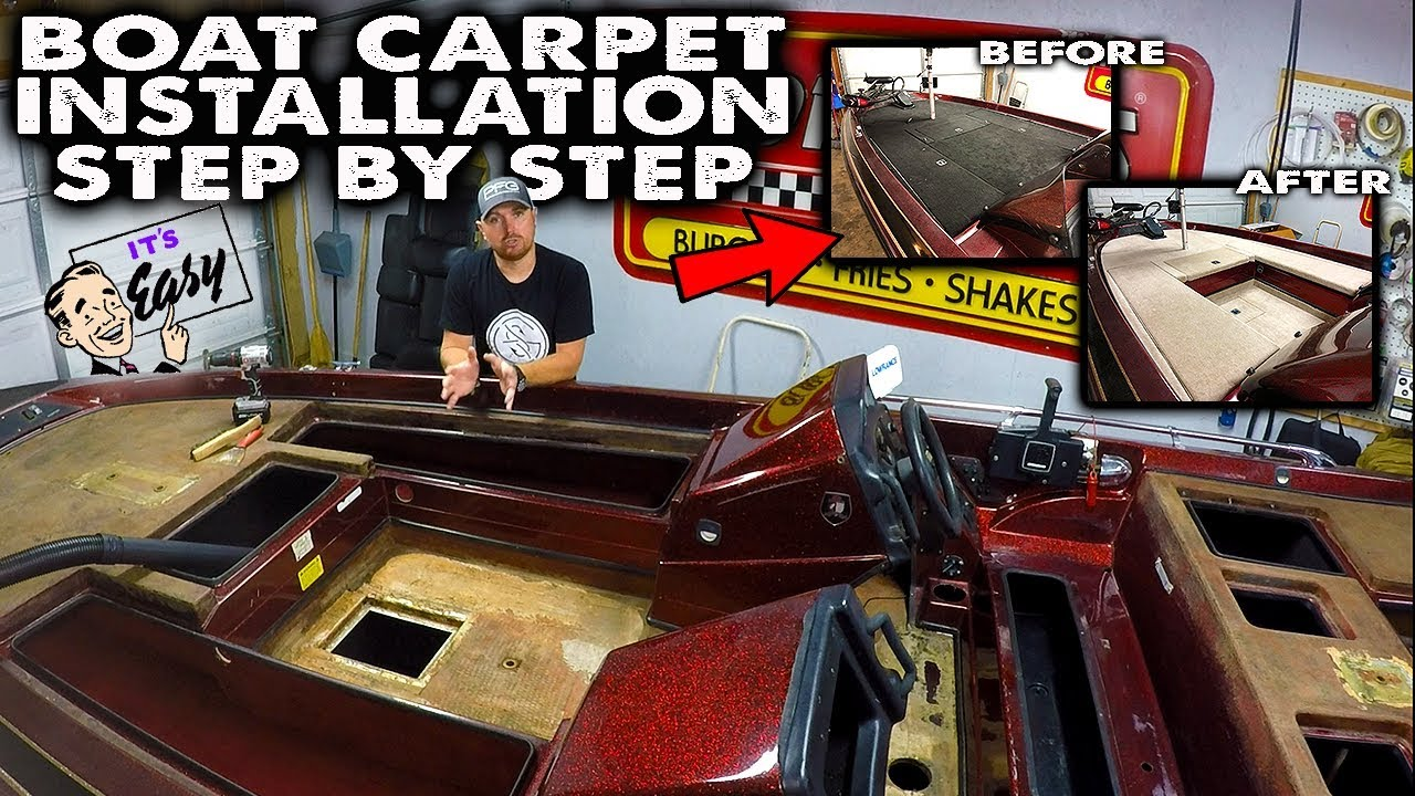 Boat Carpet Installation Easy Diy 2020 Step By Step How To Youtube