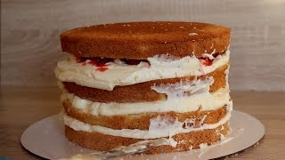 ☆Как собрать и украсить торт☆