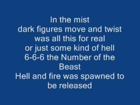 Iron Maiden - Number of the beast Lyrics on Screen
