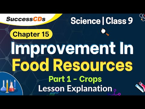 Download Improvement in Food Resources - Part 1 Crops. Class 9 Science chapter 15 Explanation