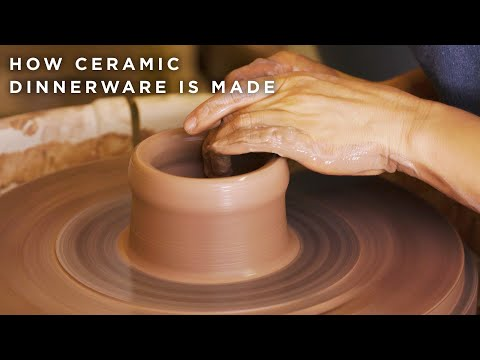 How Ceramic Dinnerware Is Made • Tasty