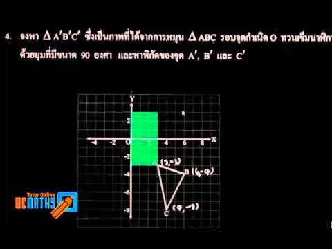 เฉลยแบบฝึกหัด สสวท. คณิตฯ ม.2 พื้นฐาน การแปลงทางเรขาคณิต