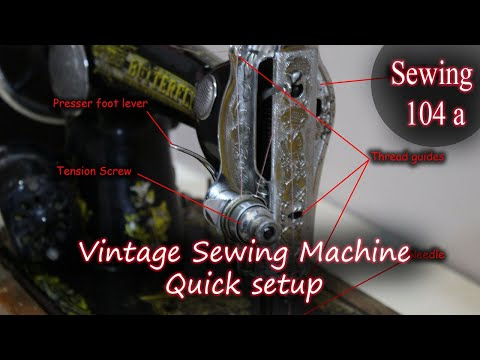 Alex Marie | Sewing Tutorial 104 (a) - How to set up your Treadle Sewing Machine (Head only)