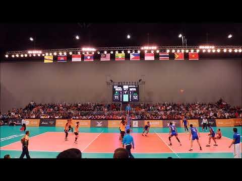 Malaysia vs Myanmar (part 2) II Men Volleyball II 29th SEA Games
