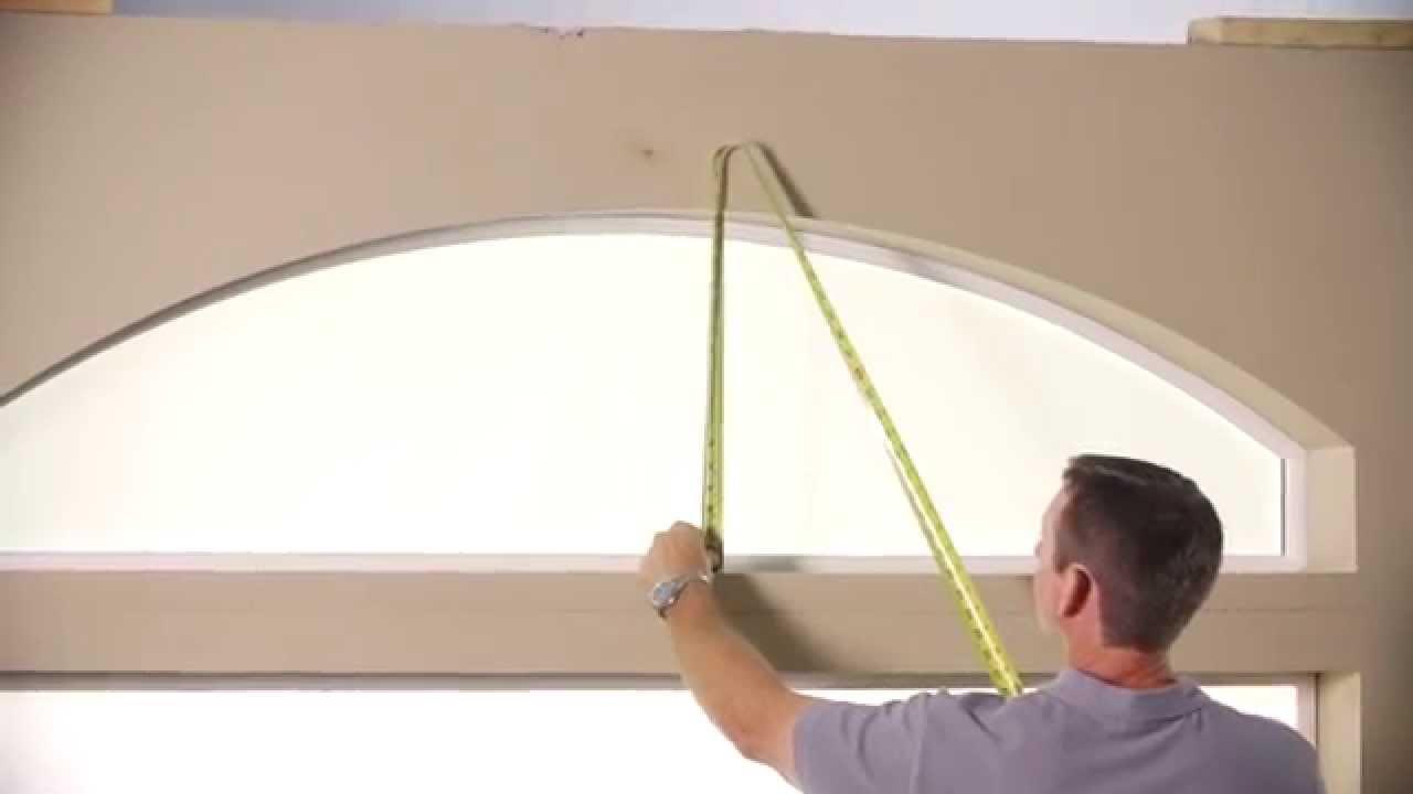 Measuring For Z Framed Sunburst Elongated Arch In Drywall