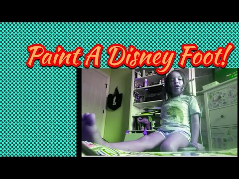 Painting Disney footprints