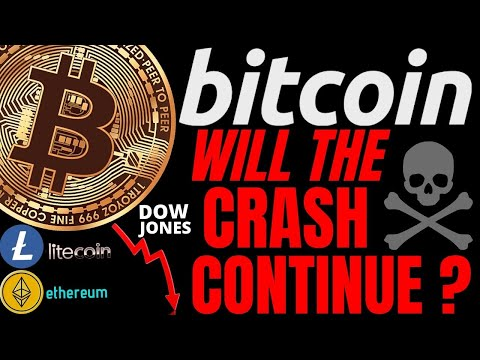 RELIEF RALLY OR CONTINUED CRASH FOR BITCOIN LITECOIN ETHEREUM and DOW JONES. trading, price, crypto