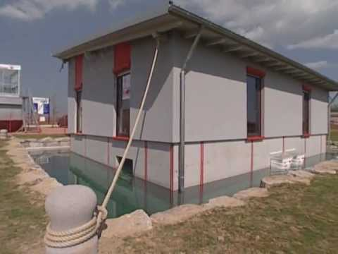 Maison flottante avec cave tanche youtube for Maison etanche