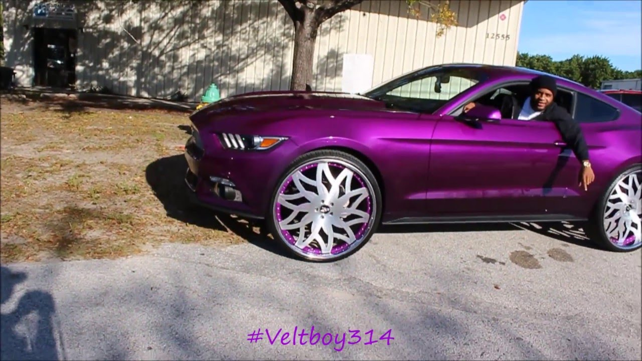 Linny J 2k16 Car Show Candy Purple Mustang On Amani Forged Wheels You