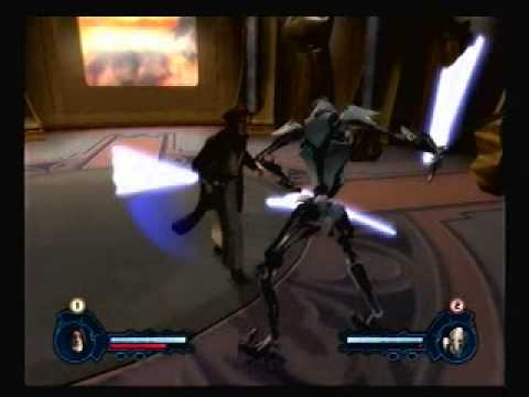 Star Wars Episode 3 Revenge Of The Sith Ps2 Game Obi Wan Ben Kenobi Vs General Grievous Youtube
