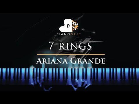 Ariana Grande - 7 rings - Piano Karaoke / Sing Along Cover with Lyrics