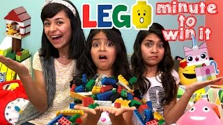 Lego Challenge Minute To Win It : CHALLENGES // GEM Sisters