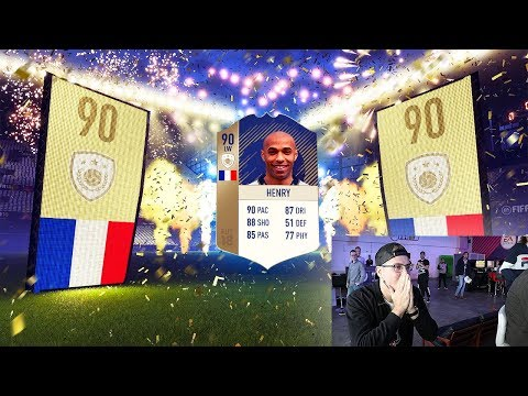 PACKING ICON THIERRY HENRY IN FIFA 18 ULTIMATE TEAM! BEST PREMIER LEAGUE STRIKER EVER??