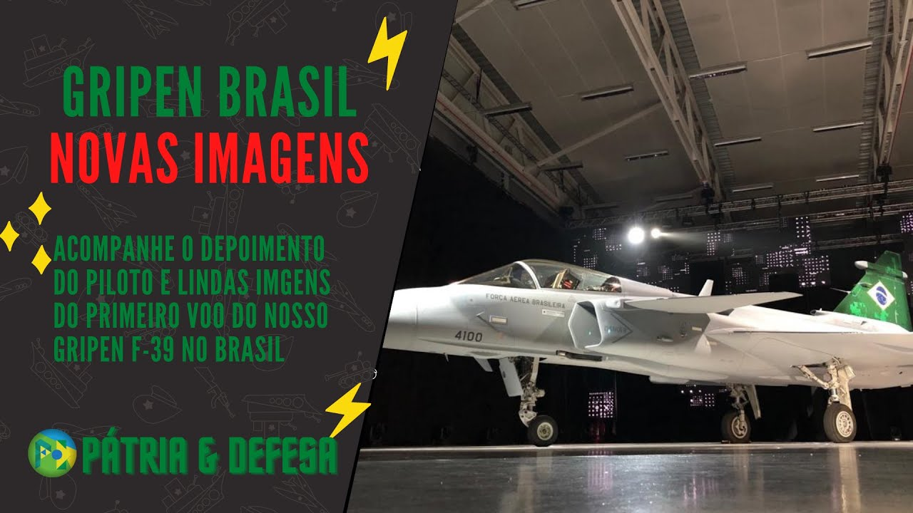 Primeira experiência de voo do Gripen F-39 no Brasil. Lindas imagens e o depoimento do piloto.