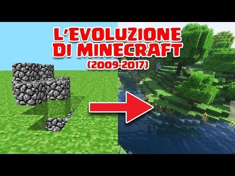 L'EVOLUZIONE DI MINECRAFT (2009-2017)