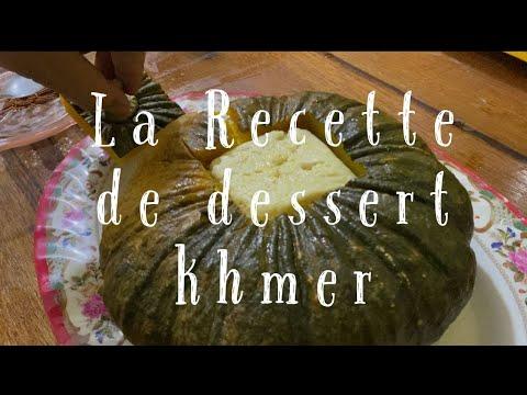 la-recette-de-dessert-khmer-(la-citrouille-avec-le-lait-de-coco)|-pumpkin-custard-|-khmer-dessert