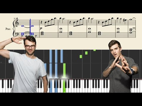 The Chainsmokers - All We Know - Piano Tutorial + SHEETS