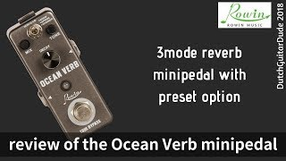 Rowin Gitarre Digital Reverb Pedal Room Feder Schimmer Ocean Verb Effekt #R