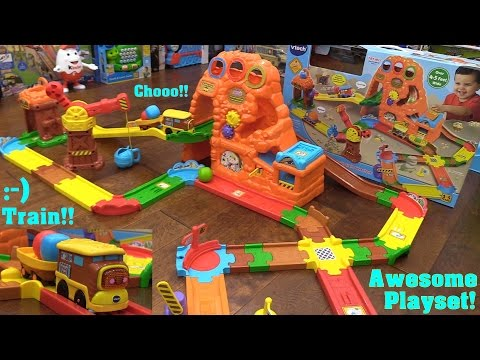 Super Ideas For Kids' Toy Trains: Vtech Go Go Smart Wheels Interactive Train Set. Treasure Mountain Train Adventure