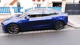 Tesla Model 3 performance with Grey wheels
